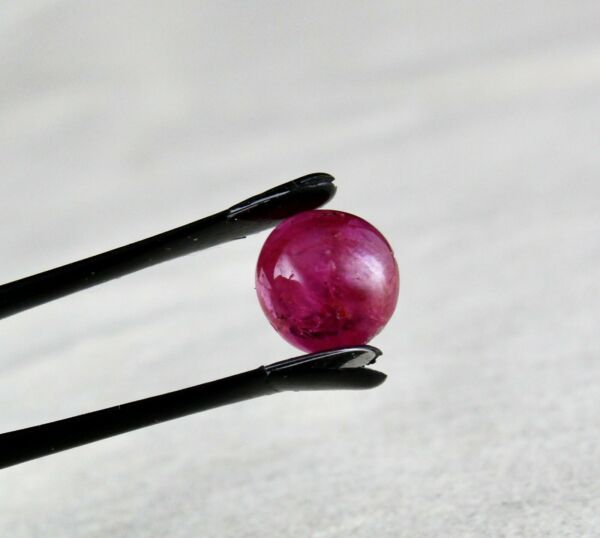 GTL CERTIFIED 10MM NATURAL BURMESE RUBY ROUND CABOCHON 5.61 CTS GEMSTONE RING