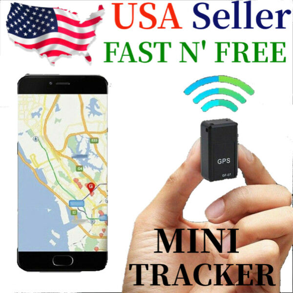 GF07 Mini Magnetic GPS Tracker Real time Car Truck Vehicle Locator GSM GPRS USA $10.49