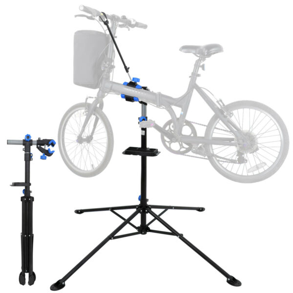 Steel Bike Adjustable 42quot; 74quot; Repair Stand w Telescopic Arm Bicycle Cycle Rack $26.99