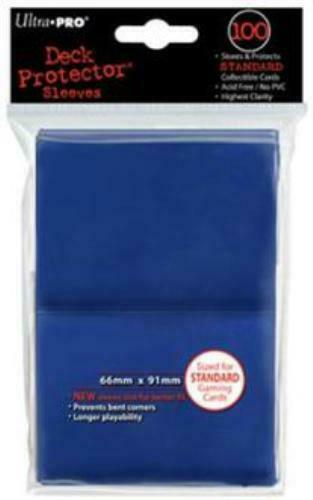 (100) *NEW* ULTRA PRO CARD SLEEVES BLUE Deck Protectors MTG Magic FREE SHIPPING  $6.97