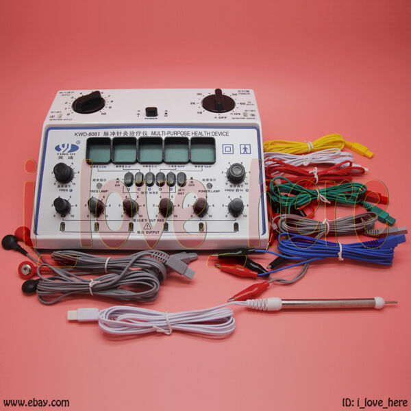 KWD-808 Acupuncture Machine Electric Massager 6 Output Pads Patches Stimulator