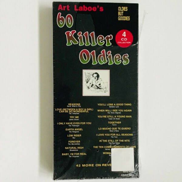 NEW Art Laboe's 60 Killer Oldies Box by Various Artists 4 CDs Hard to Find
