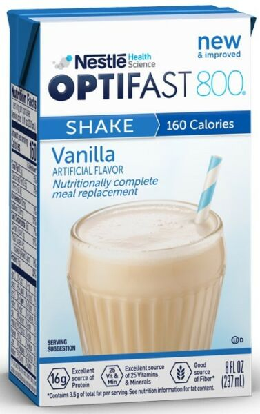 OPTIFAST 800 READY TO DRINK SHAKES  4 CASE VANILLA   108 DRINKS  EXP 093020