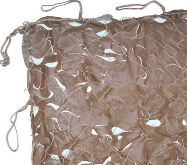 Hunting CAMO NET Netting Blind Disguise Ground Cover Camouflage 10x10#x27; Tan