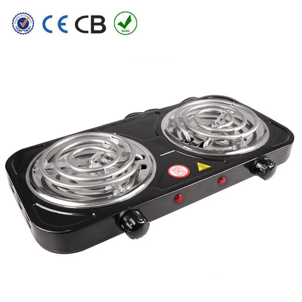 Portable Electric Dual 2 Burner Hot Plate Cooker Kitchen RV Cooktop Double Stove
