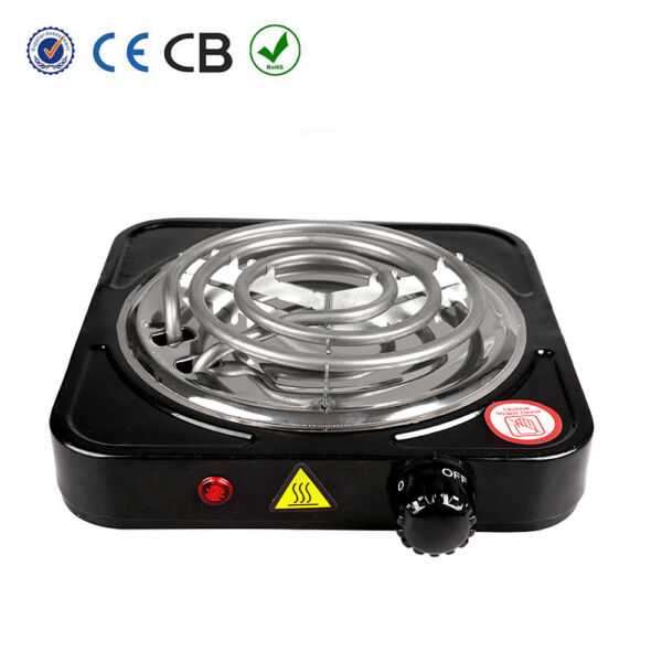 1000W Portable Electric Single Burner Hot Plate Cooktop RV Dorm Countertop Stove