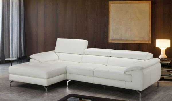 Alice Premium Leather Sectional Sofa in White