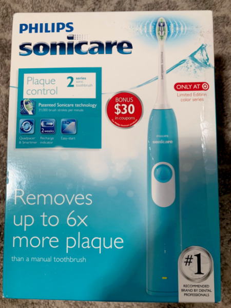 Philips Sonicare Series 2 Plaque Control Electric Toothbrush Steel Blue HX6211