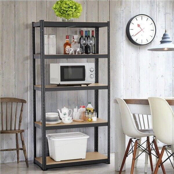 Heavy Duty 71quot;H Shelf Garage Steel Metal Storage 5 Level Adjustable Shelves Rack $65.99