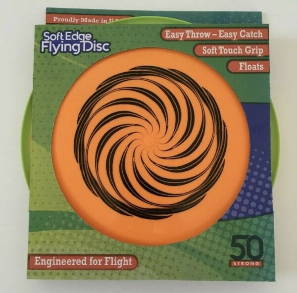 Soft Edge Frisbee Flying Disc by 50 Strong Floats in Water Made in USA