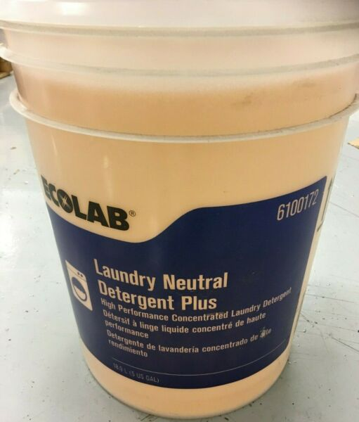 Ecolab 6100172 Neutral Laundry Detergent 5 gal Pail Faint Colorless to Light
