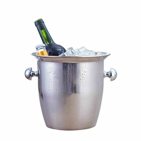 Stainless Steel Thickened Wine Ice-pail Cooler Box Thickening Champagne Bucket