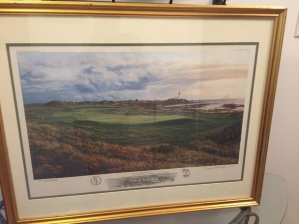 LINDA HARTOUGH GOLF CLUB SIGNED PRINT