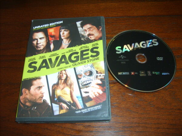 Oliver Stone's SAVAGES (DVD2012WS)~UNRATED~SALMA HAYEK~JOHN  TRAVOLTA~BLAKE...