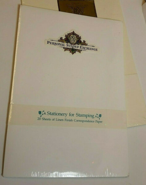 White Linen Stationary for Stamping Corrospondence Paper 20 Sheets Rare PSX New $19.76