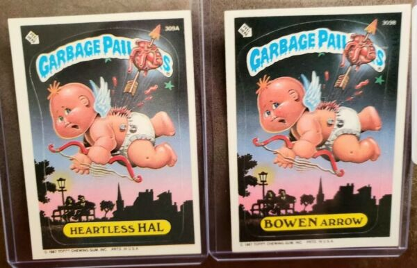 1987 Garbage Pail Kids Cards #309A&B ~Heartless HALBOWEN Arrow ~MINTAUTH CARDS