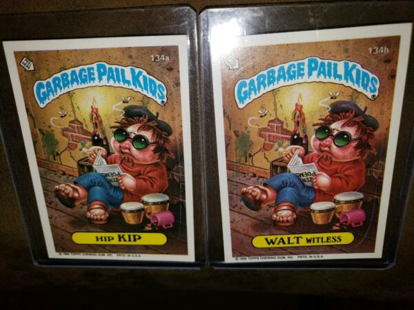*AUTHENTIC* 1986 GARBAGE PAIL KID CARDS #134AB  Hip KIPWALT Witless~MINT COND~