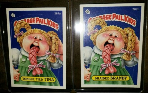 *AUTHENTIC* 1987 Garbage Pail Kid Cards #267ab Tongue Tied TINABraided BRANDY