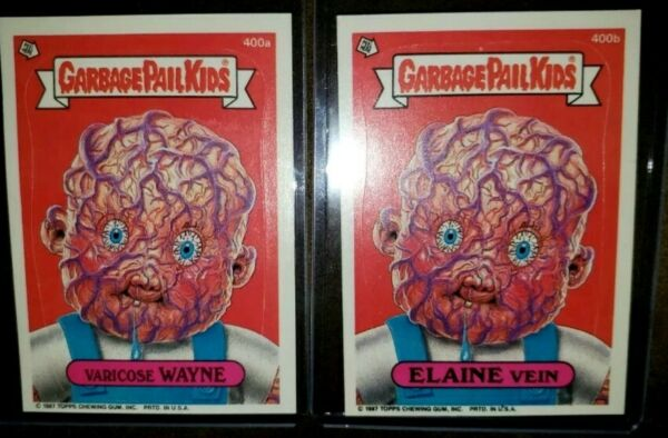 ~AUTHENTIC~1987 Garbage Pail Kid Cards #400ab Varicose WAYNE & ELAINE VEIN~MINT