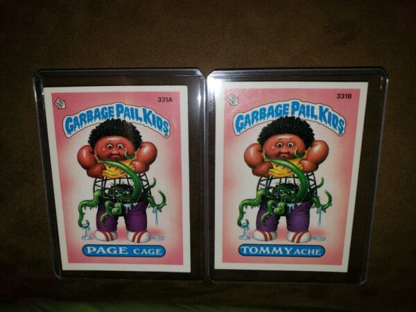 *AUTHENTIC* 1987 Garbage Pail Kid Cards #331AB PAGE CageTOMMY Ache *MINT COND*