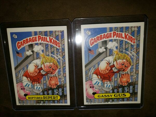 1986 Garbage Pail Kid Cards #199ab ~Ruptured RUPERTGassy GUS~ MINTAUTH CARDS