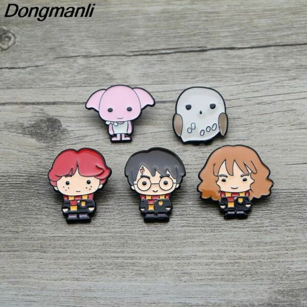 Harry Potter Metal Enamel Pins Wizard Student Brooches Lapel Badge Kids Gift