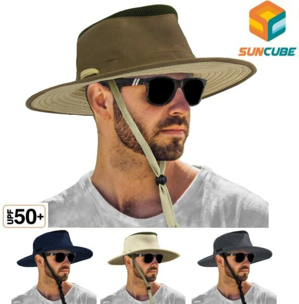 Wide Brim Boonie Hat for Outdoor Hiking Fishing Sun Protection 50UPF Bora Hat