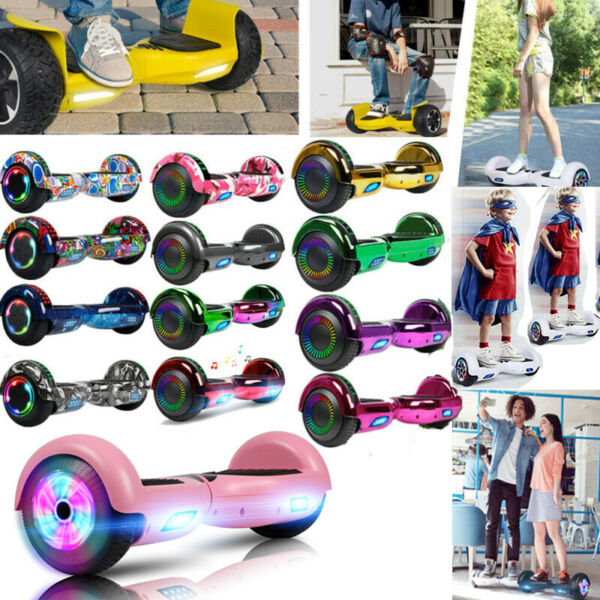 "6.5"" Bluetooth Electric Hooverboard Balancing LED Scooter 2-Wheel Scooters"