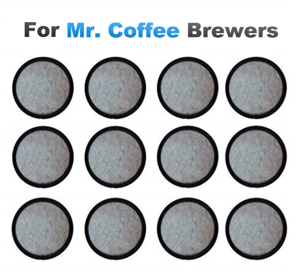12 Quality Replacement Charcoal Water Filter Disks For ALL Mr. Coffee Machines