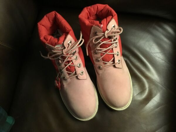 Great Timberland pink suede ladies size 6 hiking bootsone of the best made bran $42.99