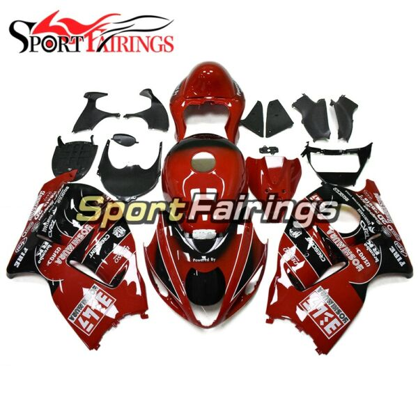 Gloss Red Black Hull For 1997 98 99 00 01 02 03 04-2007 Suzuki GSXR1300 Hayabusa