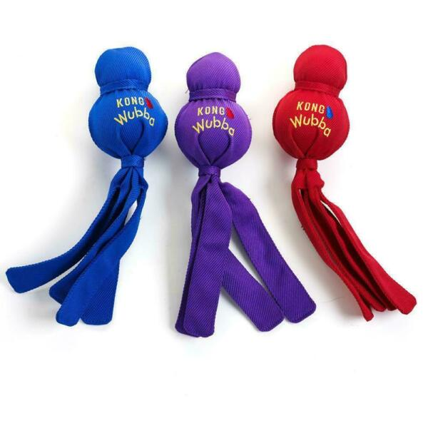 KONG Wubba Dog Toy Asst Color  Free Shipping