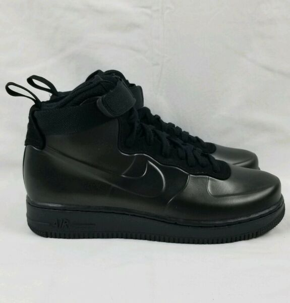 Nike Air Force 1 Foamposite Cup Men's Sz 12 Triple Black AH6771-001 AF1 Sneakers