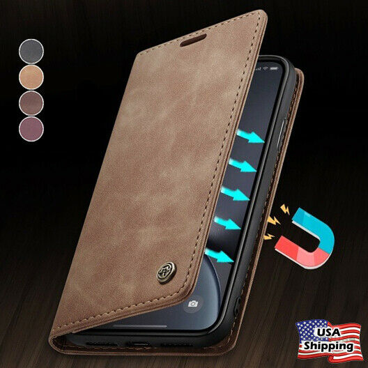 MAGNETIC FLIP COVER Leather Wallet Card Case For iPhone 12 11 PRO MAX XS XR Plus $11.95