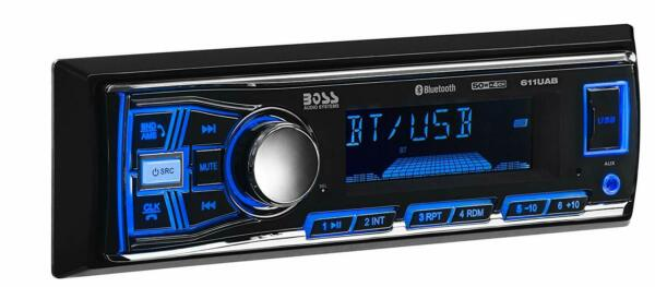 BOSS Audio 611UAB Car Stereo Bluetooth No CDDVD Player USB AUX AMFM Radio
