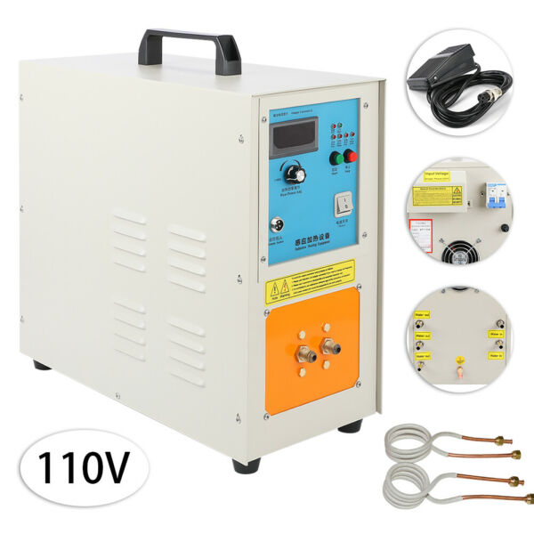 15KW High Frequency Induction Heater Furnace 30-100 KHz 110V 2200 ℃ (3992 ℉)