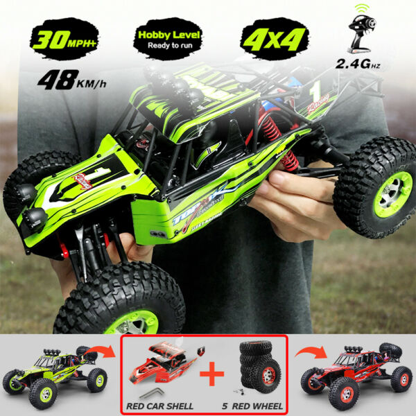 HUGE 1/12th Electric Powered RC Monster Truck 4X4 RTR Remote control Hobby Cars
