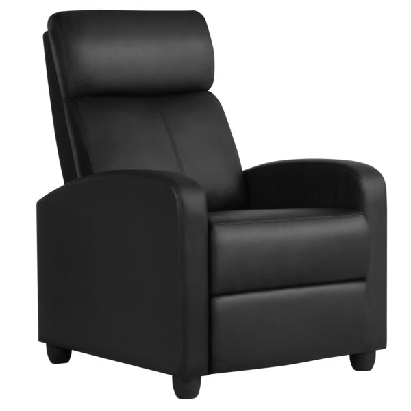 Recliner Chair PU Leather Modern Single Reclining Sofa Home Theater Seating