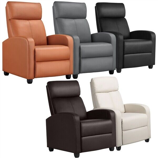 Recliner Chair Single Modern Reclining Sofa Home Theater Seating Club Chair $149.99