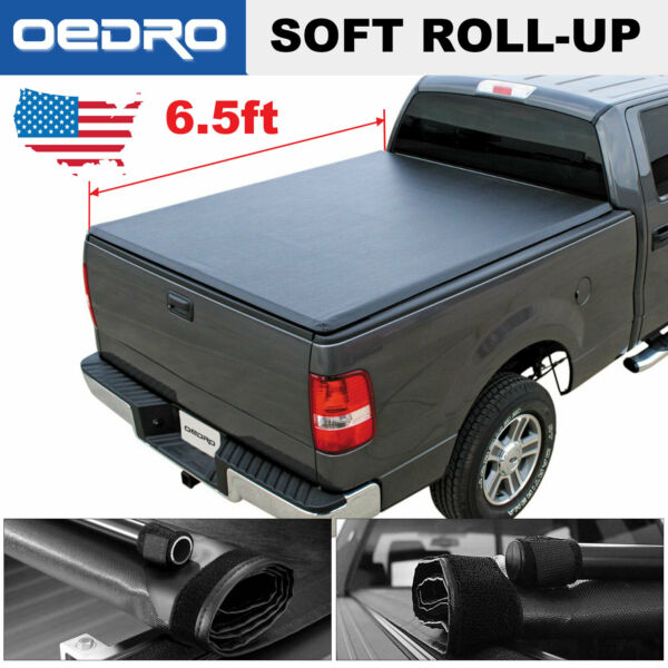 Soft Roll-Up Truck Bed Cover for 2002-2019 Dodge Ram 1500 2500 3500 6.5ft Bed