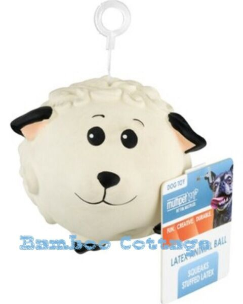 Latex Multipet Animal Ball Dog Toy Sheep 3 inch