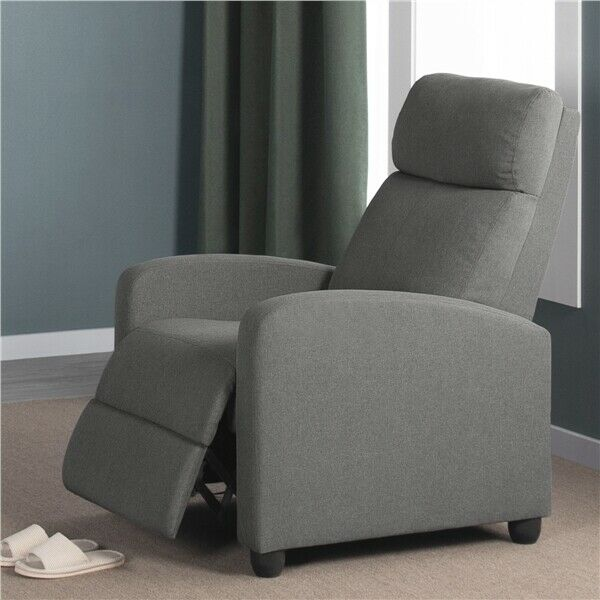 Fabric Recliner Chair Single Modern Sofa Home Theater Seating for Living Room $158.99
