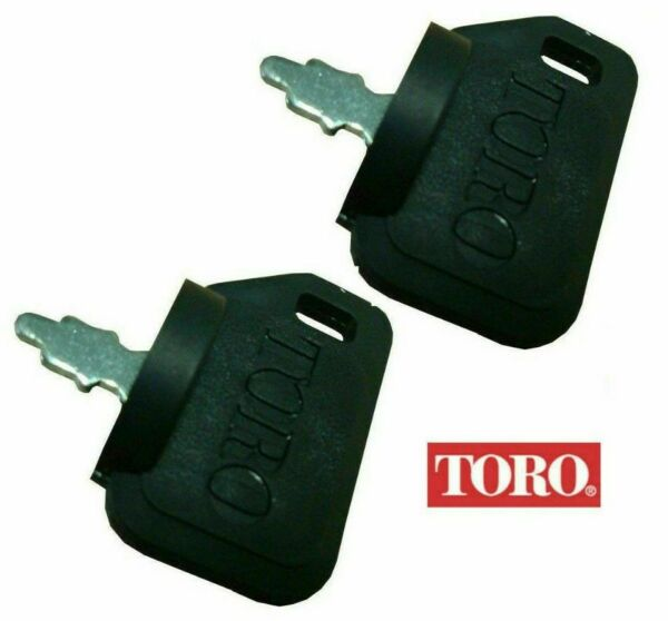 2-PACK OF GENUINE OEM TORO PART # 63-8360 IGNITION KEY WITH SHIELD MOWER