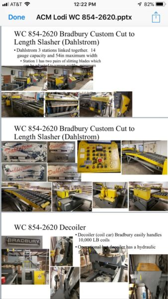 Bradbury Custom Cut to Length Slasher (Dahlstrom) WC 854-2620