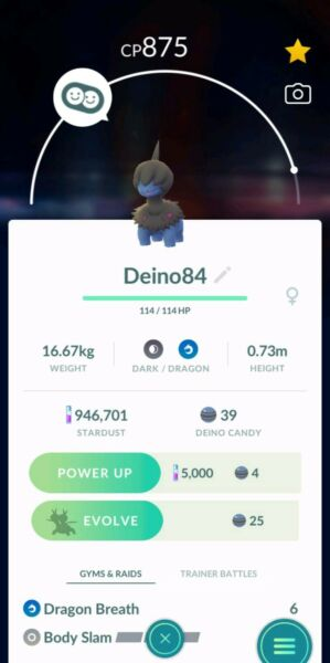 Pokemon Go Deino for trade *Buy 2 get 1 free*