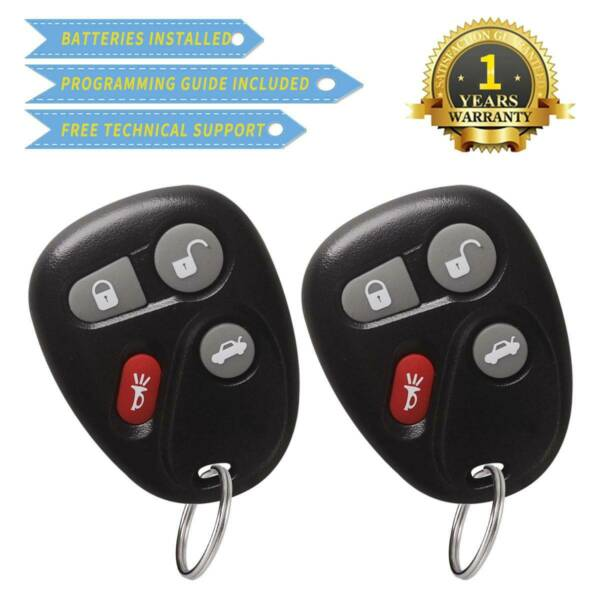 2 for Buick Lesabre 2001 2002 2003 2004 2005 Keyless Entry Remote Key Fob