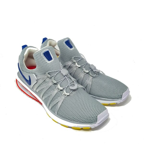 Nike Shox Gravity Silver Red Blue AR1999-046 size 10 Running Shoes Shocks Jogger