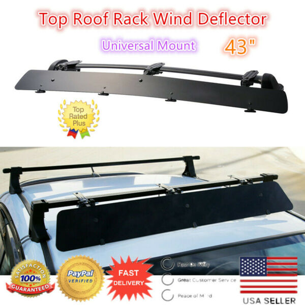Universally Mount Fit Rooftop 43quot; CrossBar Wind Fairing Air Deflector Kit $55.99
