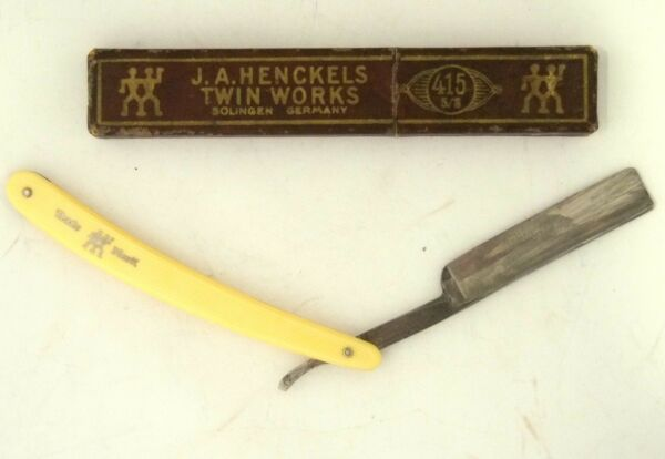 ANTIQUE J.A. HENCKELS TWIN WORKS SOLINGEN STRAIGHT RAZOR 28 GERMANY BOX