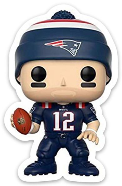 Tom Brady Bobblehead Cartoon New England Patriots Player #12 Type Magnet